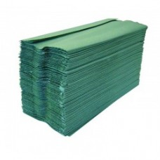 Green 1ply interfold Paper Hand Towels - 3600 per Case