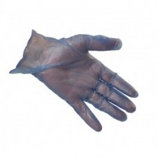 Powdered Blue Vinyl Disposable Gloves Box of 100