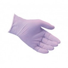 Violet Powderfree Nitrile Disposable Gloves. Box of 100