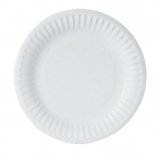 "22cm (9"") Disposable Uncoated Paper Plates - 1000 per Case"