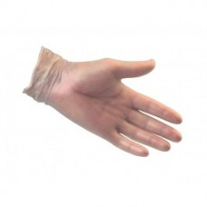 Powdered Clear Vinyl Disposable Gloves. Box of 100