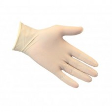 Powdered Latex Disposable Gloves. Box of 100