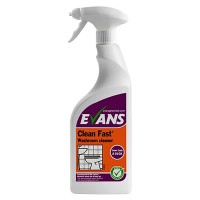 Evans Vanodine CLEAN FAST Bactericidal Heavy Duty Cleaner 750 ML trigger spray